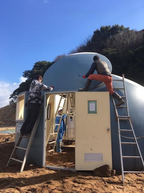 建設中のドーム
