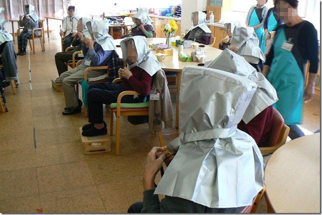 高齢者施設の防災訓練の様子