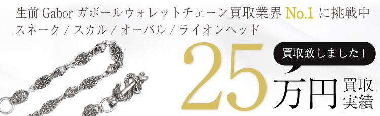 生前Gaborガボールウォレットチェーンスネーク/スカル/オーバル/ライオンヘッド 25万買取 / 状態ランク:B
