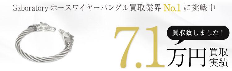 正規Gaboratoryガボラトリーホースワイヤーバングル 7.1万買取 / 状態ランク:A