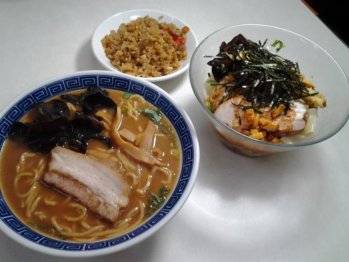 中華そばとピリ辛冷麺