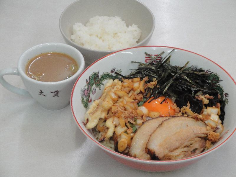 汁なし麺 油そば 釜玉中華