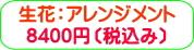 商品番号ZA-003 ギフト用花アレンジメント:8400円