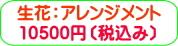 商品番号ZA-004 ギフト用花アレンジメント:10500円