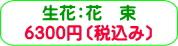 商品番号ZH-004 祝い・お供えギフト用花花束:6300円