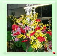 お祝いギフト用スタンド花:開店・開業など様々なお祝いに