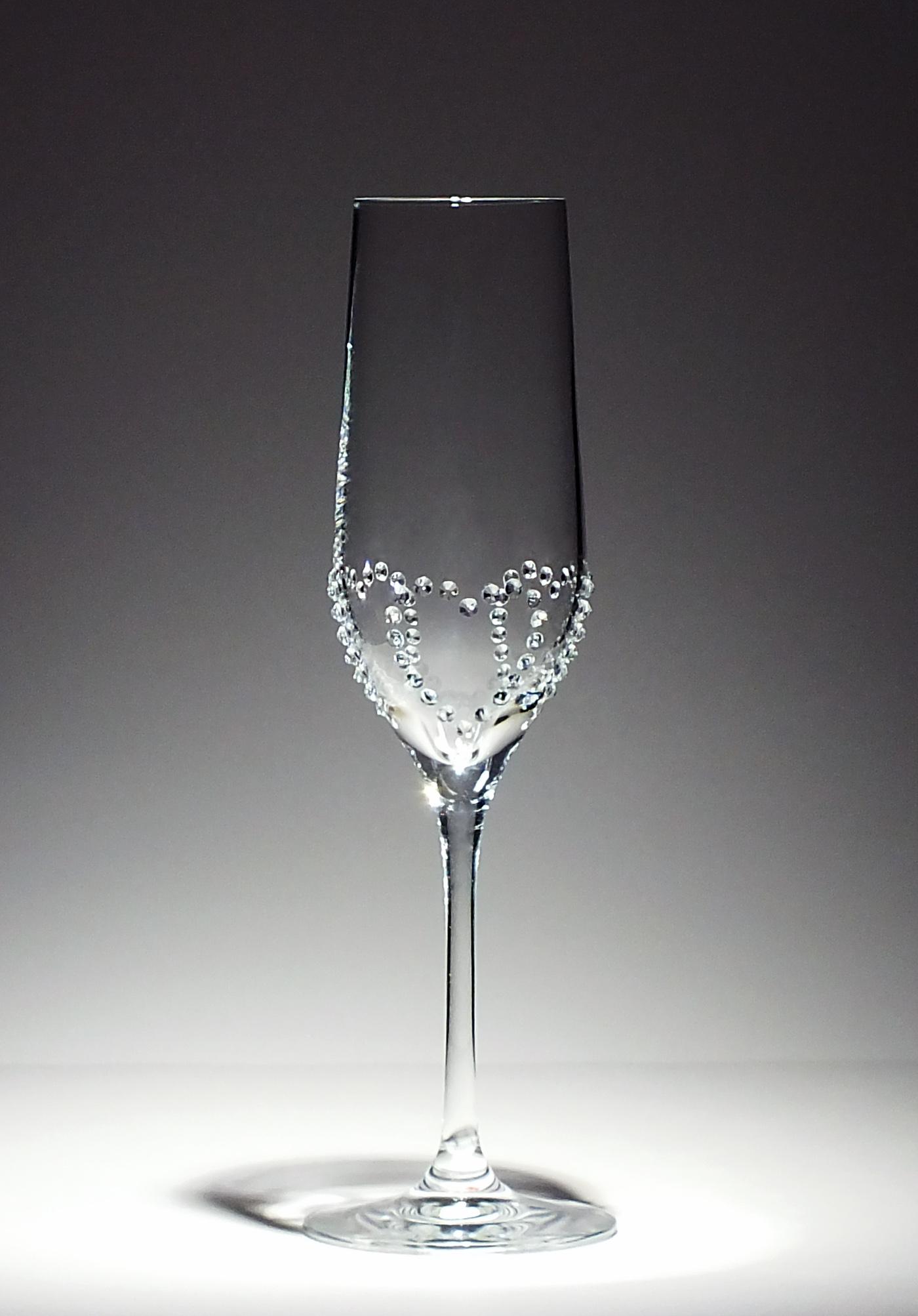 名入り彫刻シャンパングラス