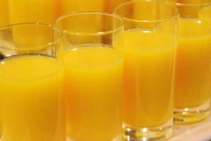 後味が楽しめるオレンジジュース
