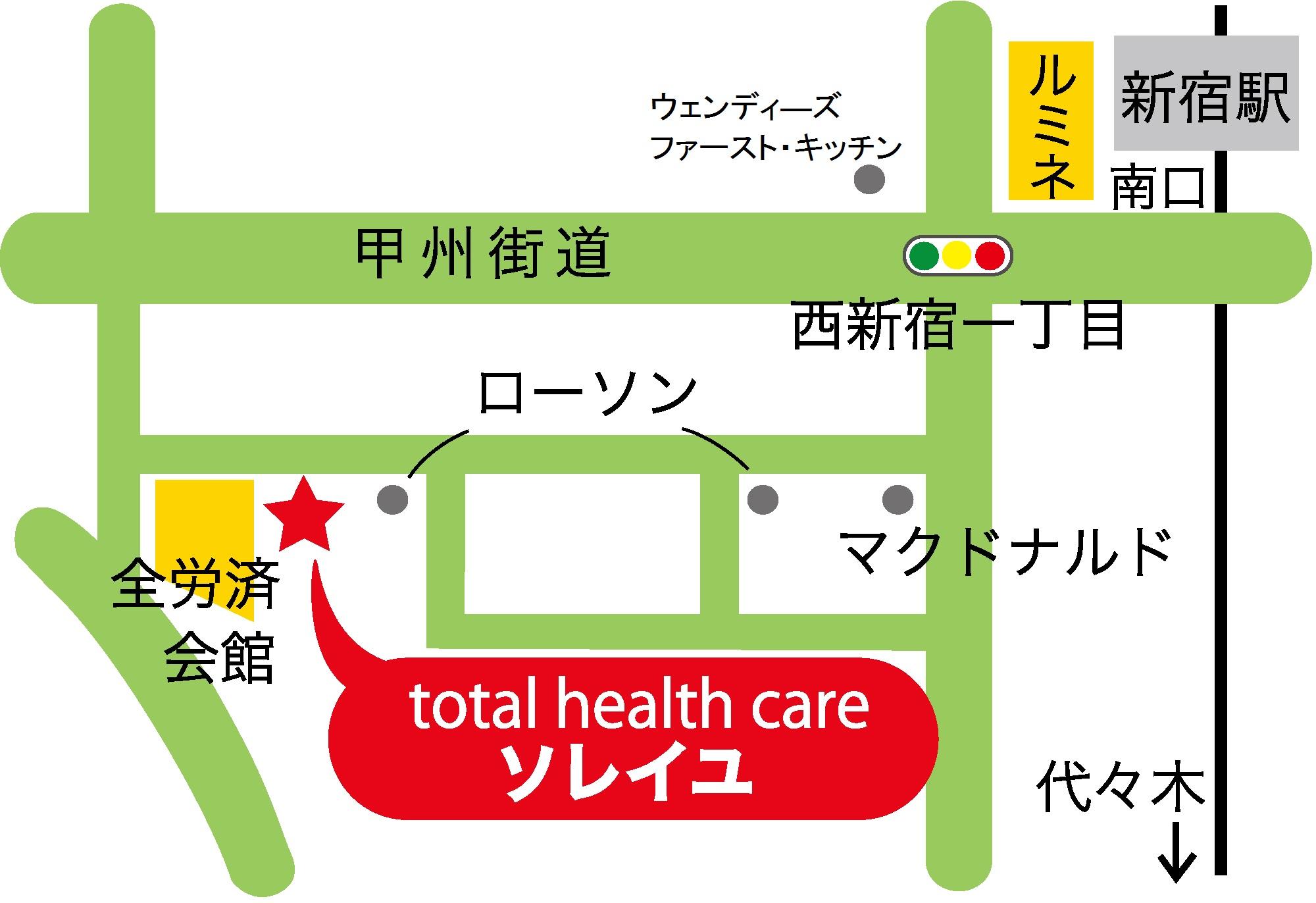 新宿南口ソレイユの地図