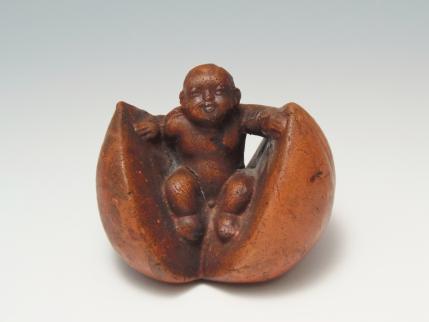 桃太郎 置物 陶器