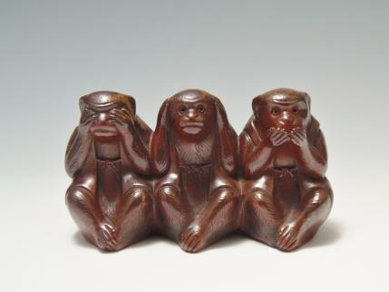 三猿 置物