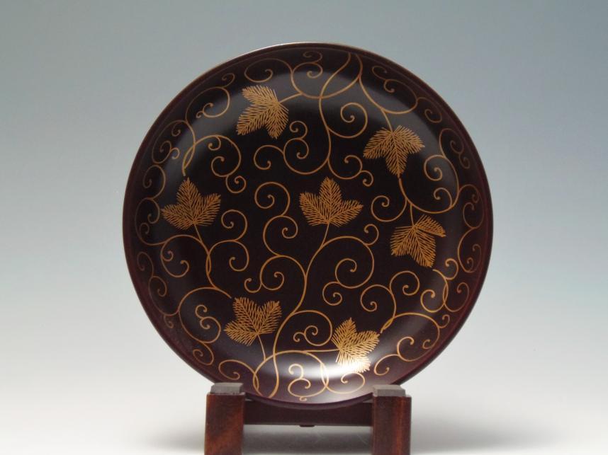 唐花文鉢 漆器