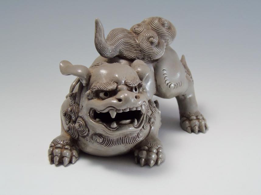 白獅子 古美術品
