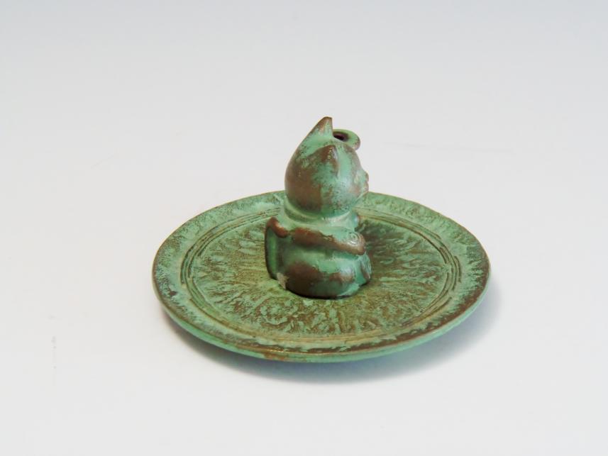 猫青銅 置物