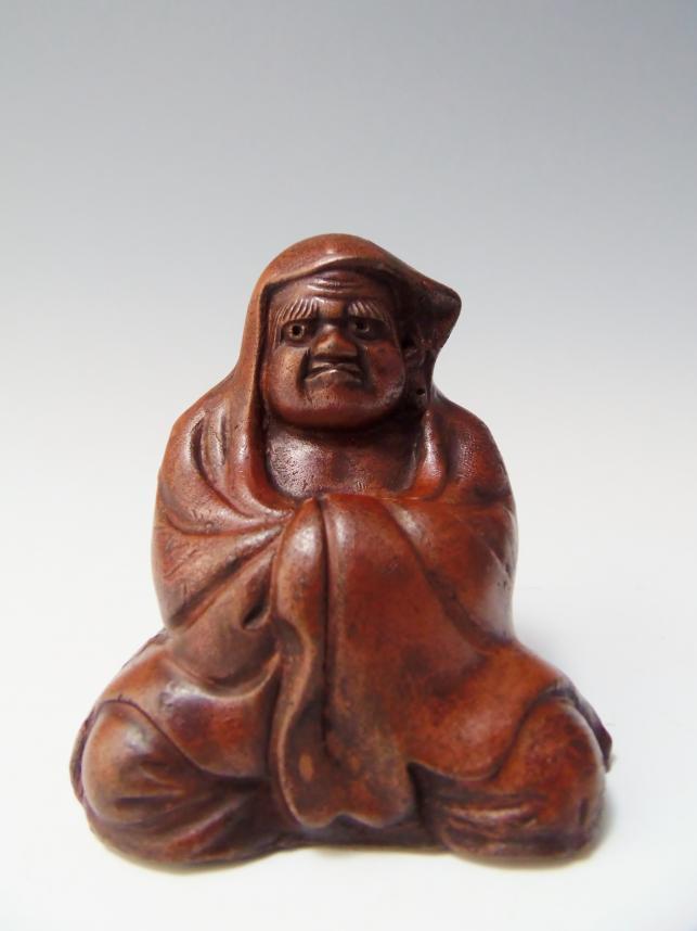 達磨座像 古備前焼 骨董品