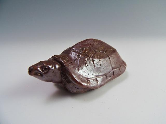 水滴(亀)備前焼 骨董