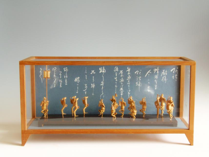 木彫り 置物 阿波踊