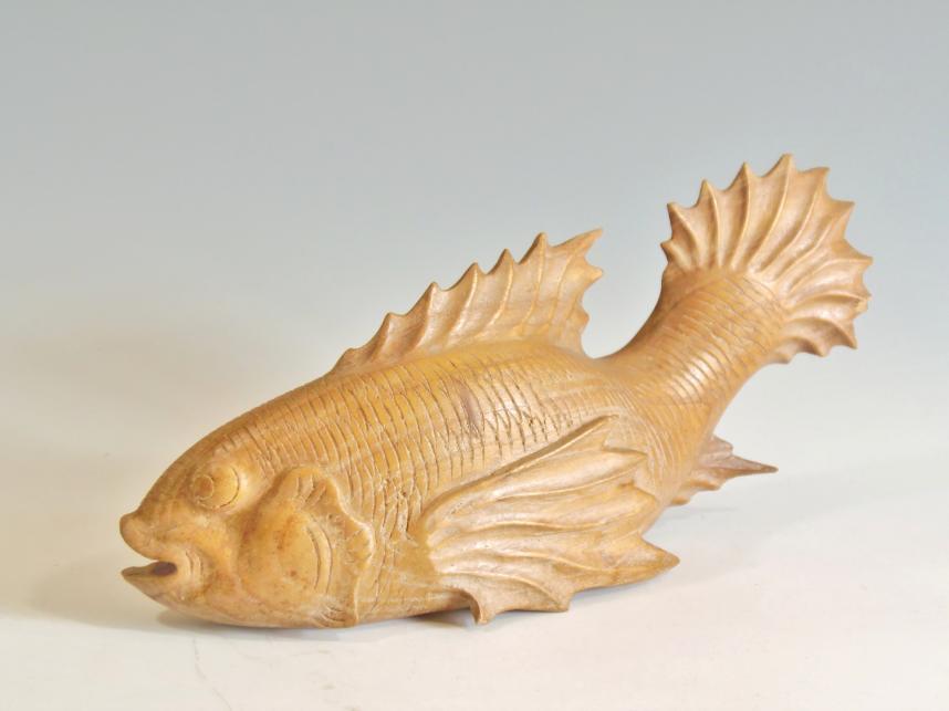 木彫り 置物 魚