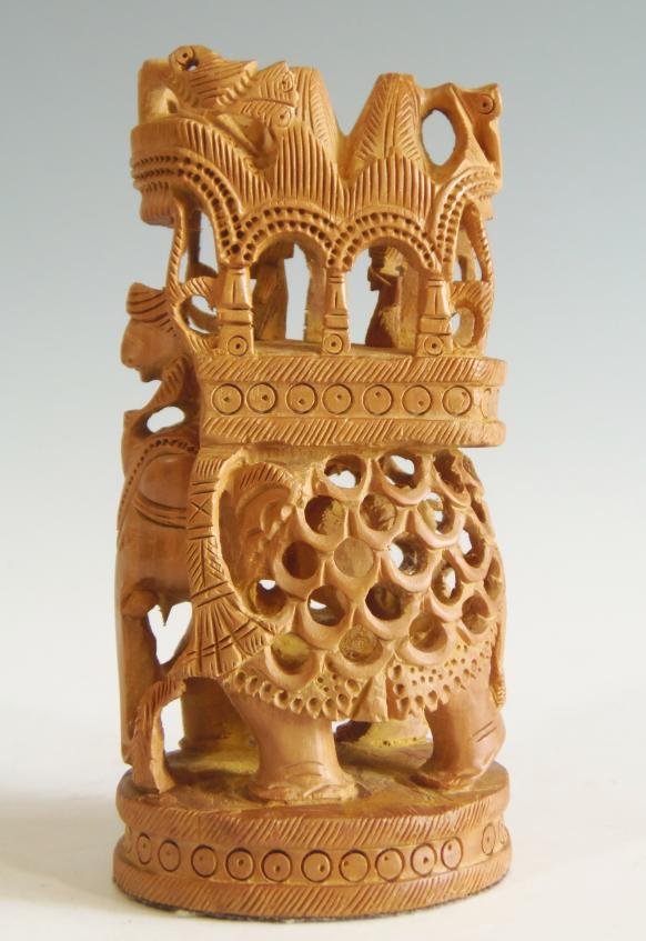 木彫り ガネーシャ像 白檀