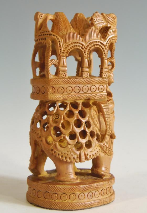 木彫り 置物 ガネーシャ像