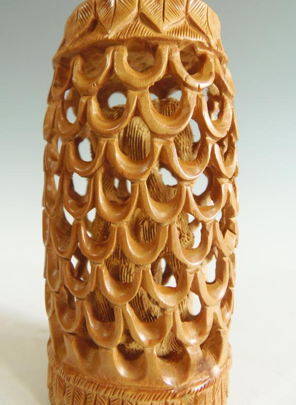 木彫り 置物 象