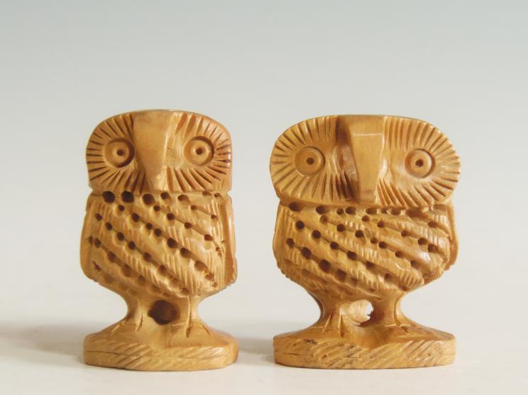 木彫りフクロウ ペア