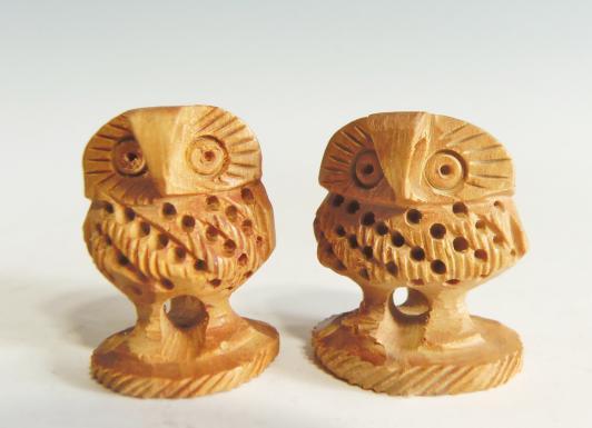 木彫 夫妻ふくろう