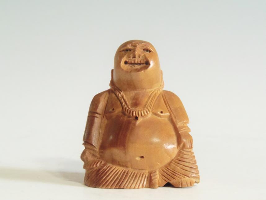 木彫置物 僧