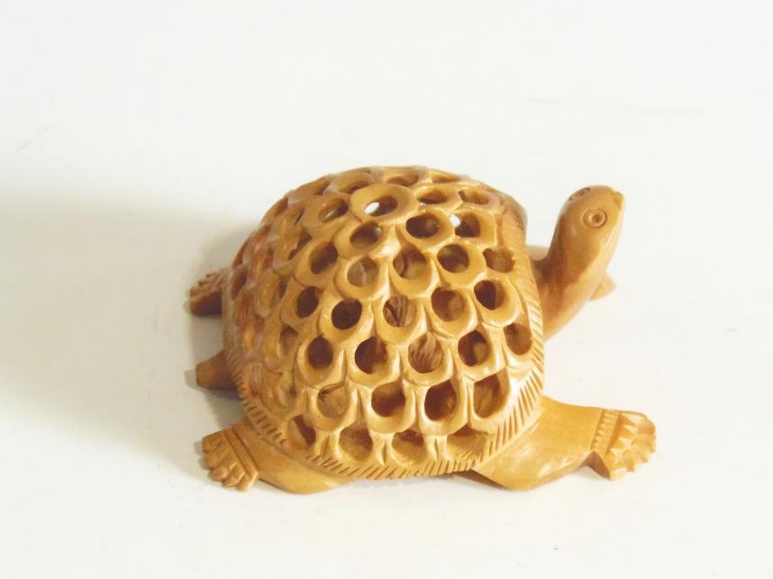 木彫置物 亀