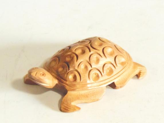 木彫 置物 亀