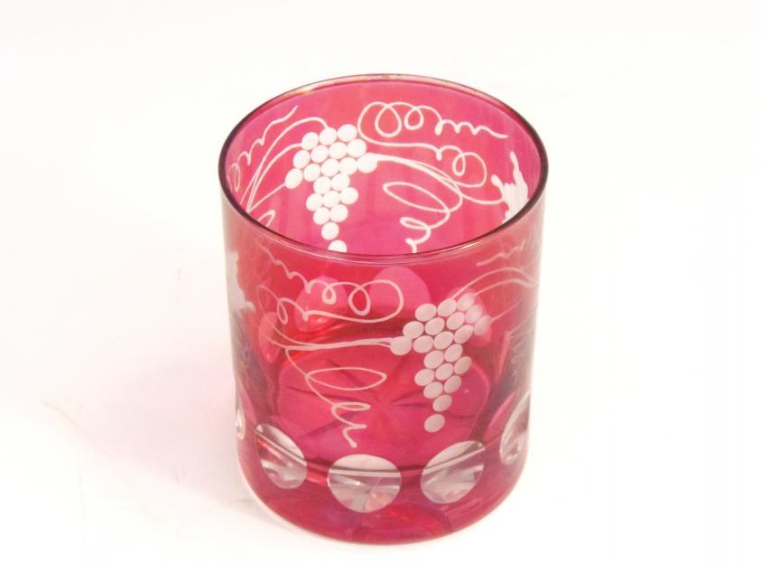 切子グラス ブドウ