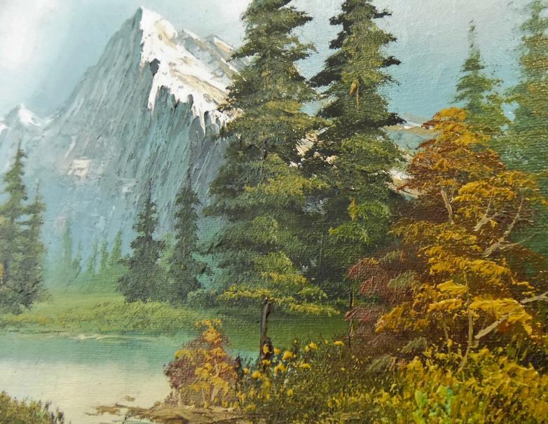 油絵 山岳風景