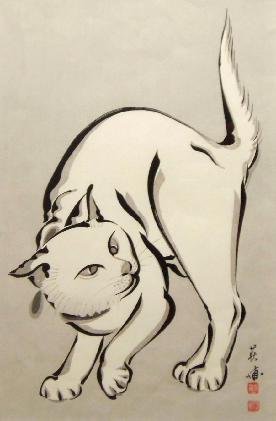 木版画 猫