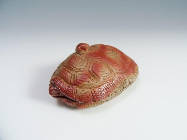 亀陶器置物