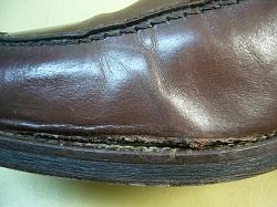 革靴 側面破れ