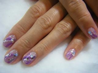 紫 エレガント ネイル