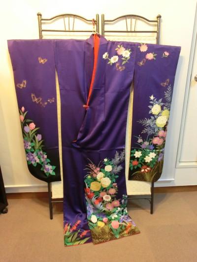 レンタル着物 ヘア着付 紫