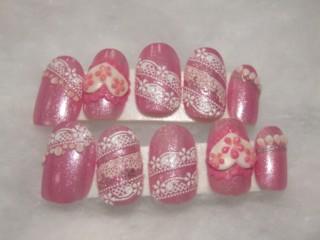 ネイル チップ ピンク