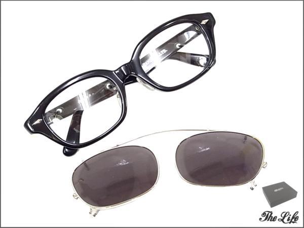 GLAD HAND×丹羽雅彦作J-IMMY&CLIP ONサングラスセット/GLASSES SET/グラッドハンド/ブラック×ブラック