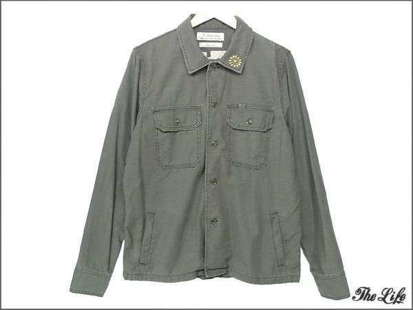 レミレリーフ ミリタリーシャツ(スタッズ×刺繍)XL REMI RELIEF