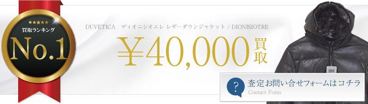 ディオニシオエレ レザーダウンジャケット / DIONISIOTRE 4万円買取