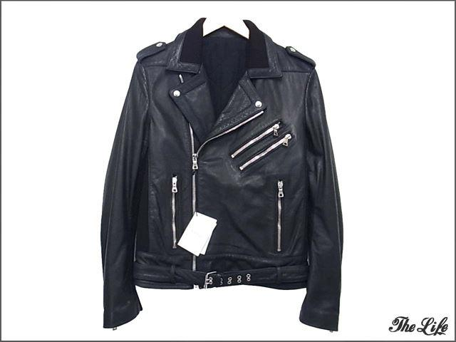 15AW BALMAINクラシックバイカーライダースジャケット48/classic biker jacket/バルマン/ダブル/ブラック/国内正規品(ブルーベル)/W5HC844D184