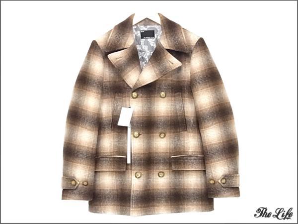 14AW n(n) by NUMBER (N)INEナンバーナインPコート3/ウール/チェック/Pea Coat Wool Check/タグ付属