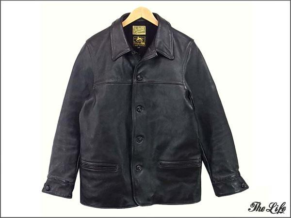 JOE McCOYジョーマッコイ レザーカーコート/ブラック/40/ホースハイド/ジャケット