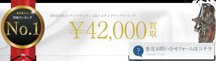 ブリーフィング×サンマウンテン CR-1 スタンドキャディバッグ   4.2万円買取 ブランド買取ライフ
