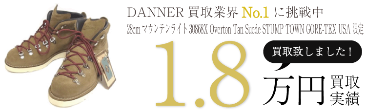 DANNER 28cmマウンテンライト30868X Overton Tan Suede STUMP TOWN GORE-TEX USA限定 ブランド買取ライフ