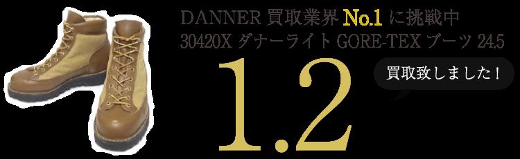 DANNER 30420XダナーライトGORE-TEXブーツ24.5 ブランド買取ライフ