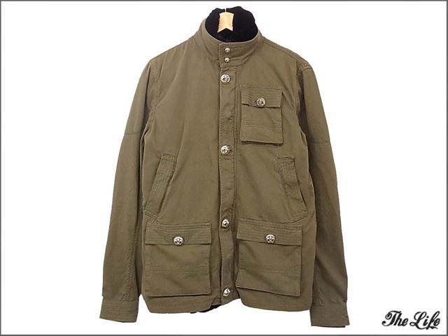 クロムハーツ衣類CHROME HEARTSチェリーボム/オリラグファー/ジャケットS/ミリタリージャケット/販売明細書付属(クロムハーツロサンゼルス)/MNS JKT CHERRYBOMB V1/ARMY GREEN