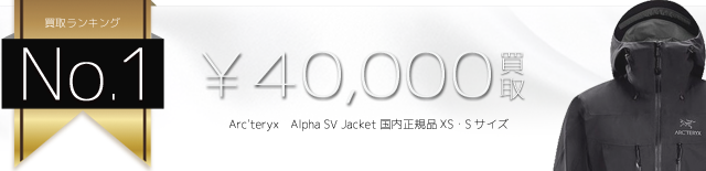 アルファSVジャケット Alpha SV Jacket 国内正規品XS・Sサイズ 4万円買取
