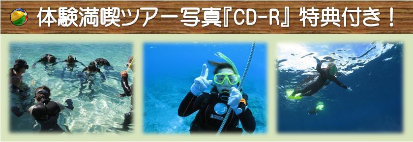 体験ダイビング写真CD-Rの特典付き